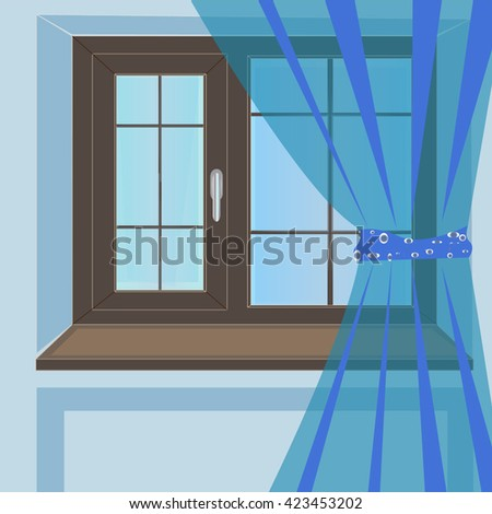 Windows plastic illustration isolated design background