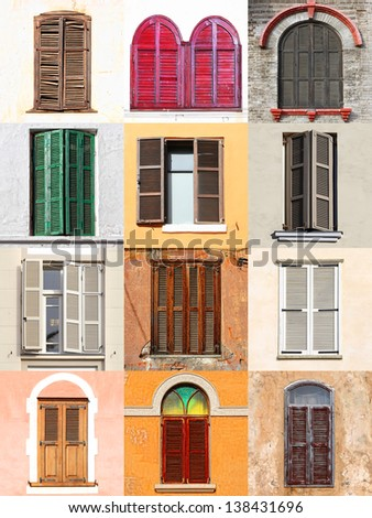 Windows with shutters from Mediterranean