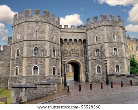 Windsor Castle, favorite residence of Queen Elizabeth II - stock photo