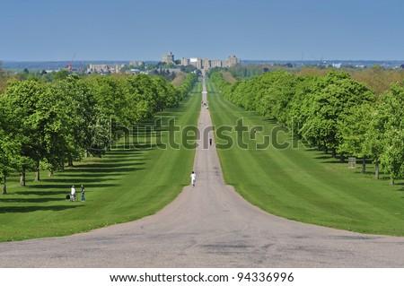 Windsor Castle & The Long Walk. - stock photo