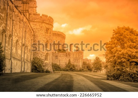 Windsor Royal Castle - stock photo