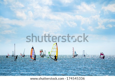 Windsurfers  - stock photo