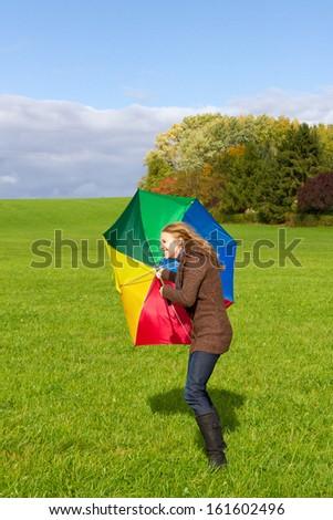 Windy days - stock photo