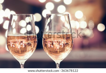 Wine and dine.  - stock photo