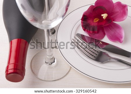 Wine and dishes