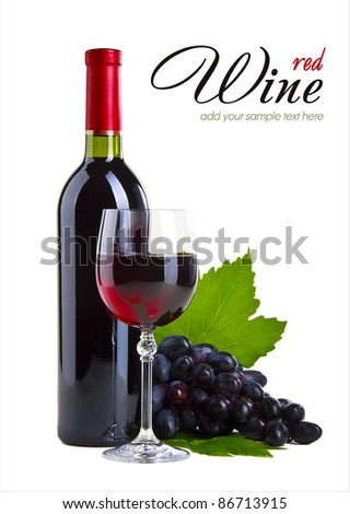 Wine and fruit - stock photo