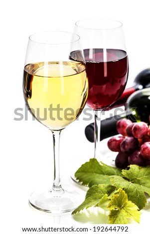 Wine and grape close up image - stock photo