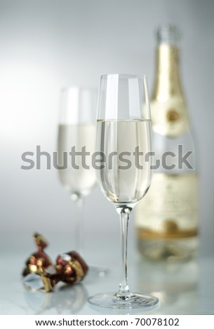 Wine and sweets - stock photo