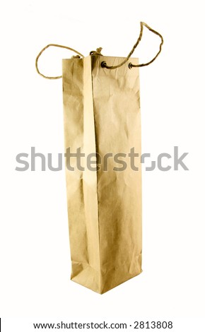 Wine bag selected on a white background - stock photo