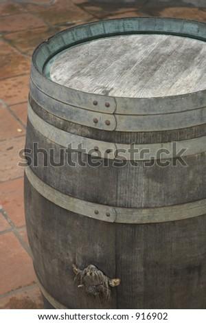 wine barrel - stock photo