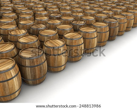 wine barrel (clipping path included) - stock photo