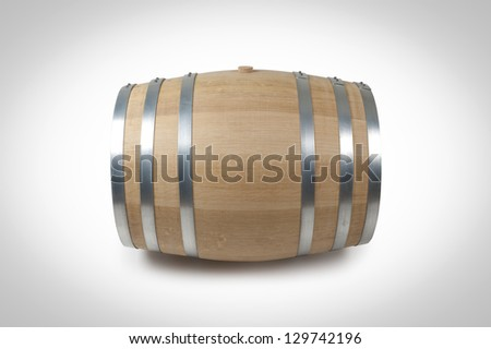 Wine barrel. Made of French oak. - stock photo