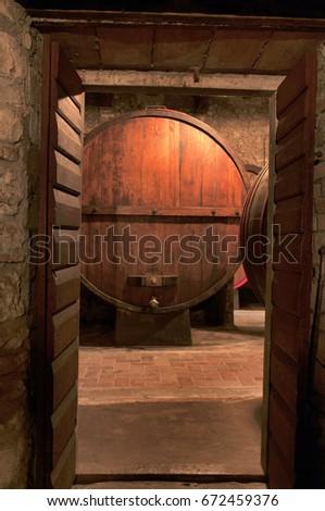 Pattern Old Wooden Barrels Stock Vector 82312501