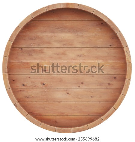 Wine, beer, whiskey, rum, barrel top view of isolation on a white background. 3d high resolution image. - stock photo