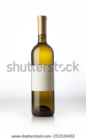 Wine bottle. - stock photo