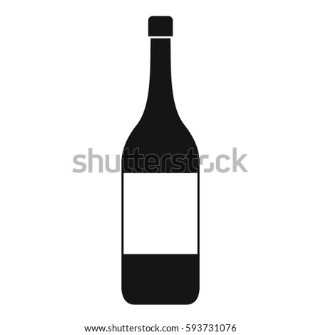 Wine bottle icon. Simple illustration of wine bottle  icon for web