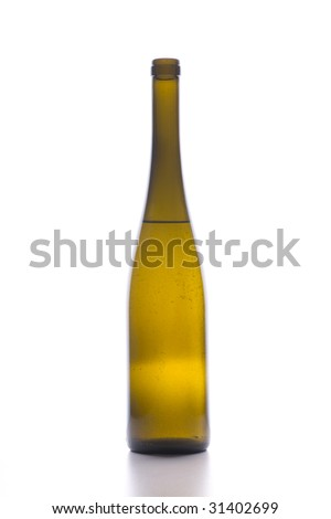 wine bottle isolated on the white background