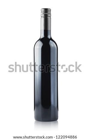 Wine Bottle on white background - stock photo
