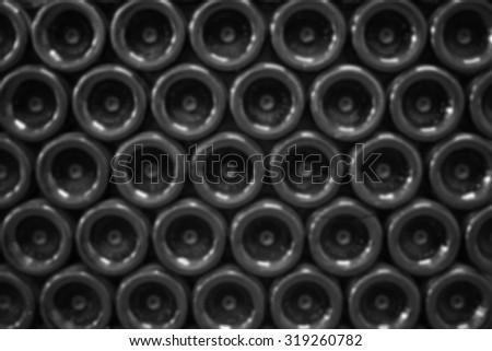 Wine bottom bottles blurred back ground - stock photo