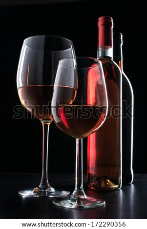 wine by the glass - stock photo