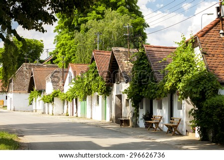 wine cellars, Hadres, Lower Austria, Austria - stock photo