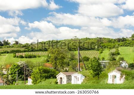 wine cellars in Retz region, Lower Austria, Austria - stock photo