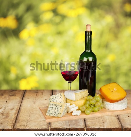 Wine, Cheese, Grape.