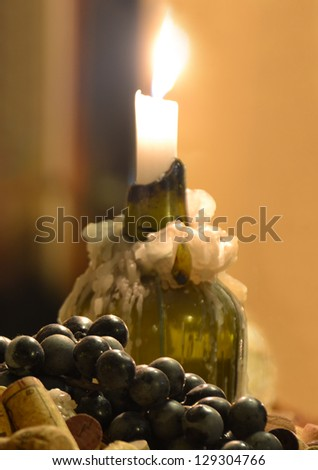 Wine composition - stock photo