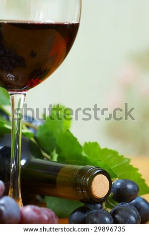 Wine composition - stock photo