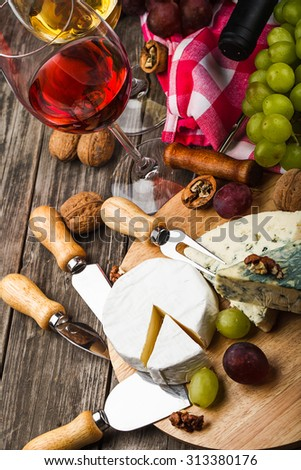 wine composition showing culture of wine drinking - stock photo