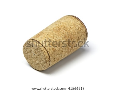 Wine cork isolated on a white background - stock photo
