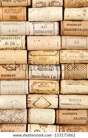 Wine cork pattern background - stock photo