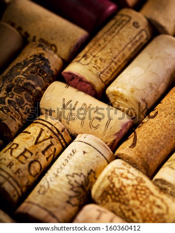 wine corks as background