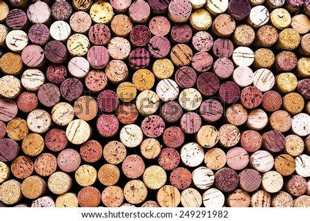 wine corks background - stock photo