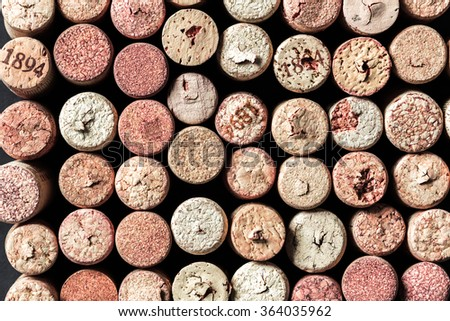 Wine corks collection - stock photo
