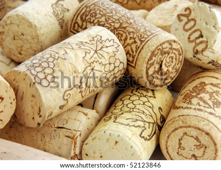 Wine corks in detail - stock photo