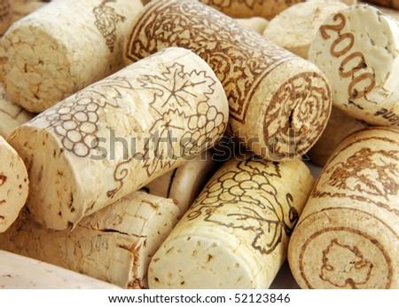 Wine corks in detail - stock photo