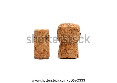 Wine fuses on a white background - stock photo