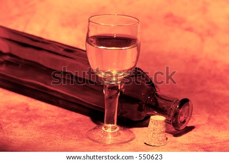 Wine Glass and a Bottle