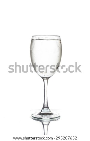 wine glass and water