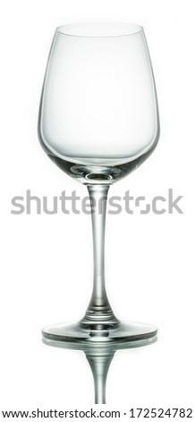 Wine glass on white background - stock photo