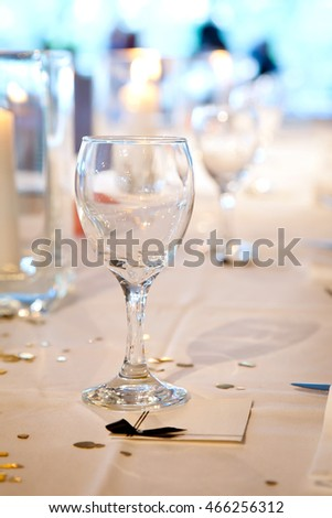 Wine Glass Table Setting Stock Photo Royalty Free - Wine glass table setting