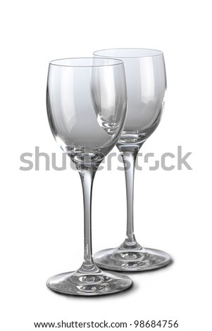 WIne glasses - stock photo