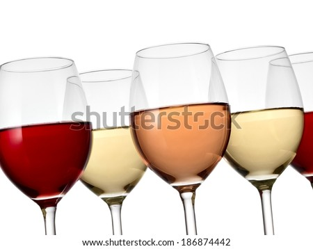 Wine glasses, close up - stock photo