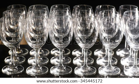 Wine Glasses. Selective focus - stock photo