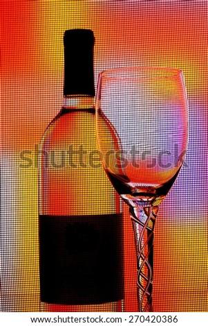 Wine Glassware Abstract Design - stock photo