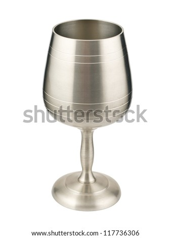 Wine goblet isolated on white with clipping path - stock photo