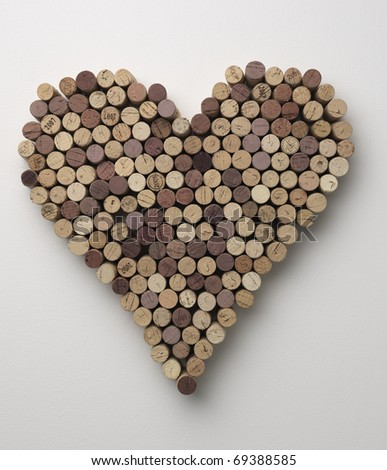 wine heart - stock photo