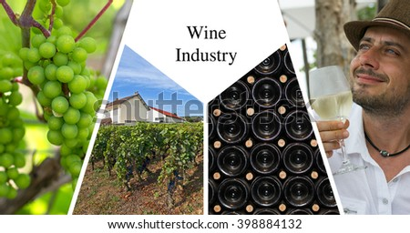 Wine industry presentation card - stock photo