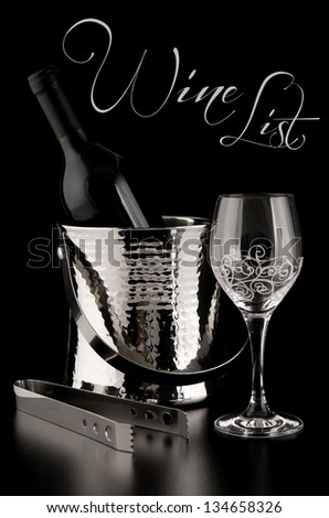 Wine List in black - stock photo